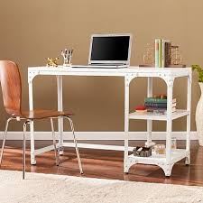 penelope industrial writing desk distressed white 8521781 hsn