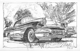 classic cars drawings garth glazier