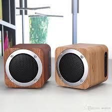 Small Desk Speakers Portable Wooden Fm Radio Bluetooth Speaker Support Tf