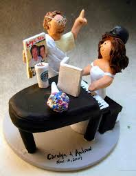 piano cake topper wedding cake topper