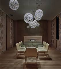 contemporary pendant lighting for dining room home design image of globe crystal pendant light and wooden plank floor