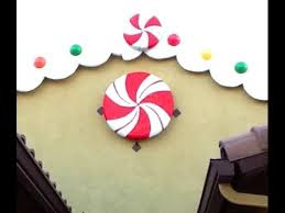 Fake Lollipop Decorations Diy Giant Peppermint Candy Decoration Gingerbread Candyland