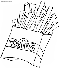 fast food coloring pages coloring pages to download and print