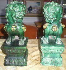 green foo dogs celadon foo dogs pair 505 decorative dogs