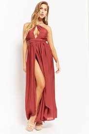 model dress high neck m slit maxi dress forever 21 2000283771