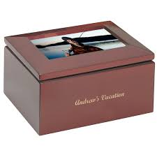 personalized boxes keepsake box with picture frame