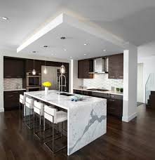 kitchen islands vancouver kitchen waterfall island modern kitchen vancouver by
