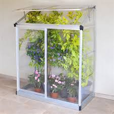 Palram Greenhouse Palram Lean To Mini Greenhouse 4 X 2 U0027 Silver Mini Greenhouse