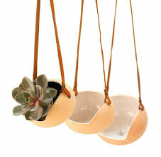 Hanging Ceramic Planter by Hanging Ceramic Pots Inspired By Mexican Jicama Plant