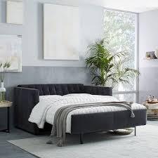 Grey Sleeper Sofa Gray Two Tone Midcentury Sleeper Sofa