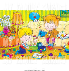 livingroom cartoon family room clipart 26