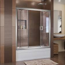 bifold shower door frameless shop dreamline butterfly 57 5 in to 59 in frameless chrome bifold