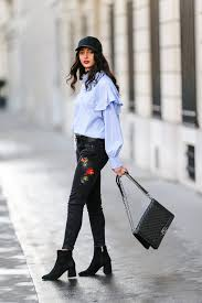 how to wear booties with skinny jeans popsugar fashion