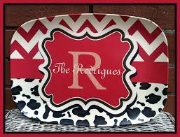 ideas u0026 tips monogram platter for housewarming gifts idea