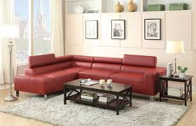floor l with red shade furniture modern minimalist living room with l shaped red leather