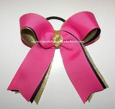 ribbon for hair that says gymnastics bulk pink gymnastic hair bow hot pink dance bow hot pink