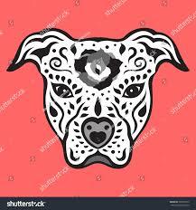 pitbull halloween background american pitbull terrier pit bull sugar stock vector 309225575