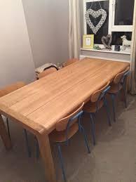 Habitat Dining Table A Habitat Radius 6 Seater Oak Dining Table With 6 Hester Blue