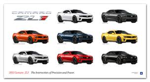 camaro zl1 colors camaro zl1 exterior colors poster chevymall