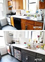 Painted Kitchen Cabinets Before After Best 25 Cheap Kitchen Makeover Ideas On Pinterest Cheap Kitchen