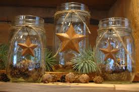 Primitive Kitchen Canisters Rustic Mason Jar Set Barn Stars Primitive Rustic Decor