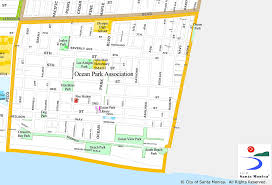 Map Of Santa Monica Ocean Park Association About