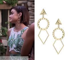 pretty liars earrings 6x10 pll montgomery gold earrings fashion inspiration for