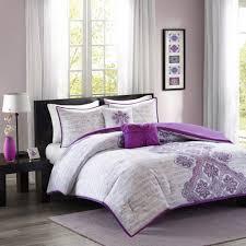 intelligent design avani purple comforter set id10 252 id10 252