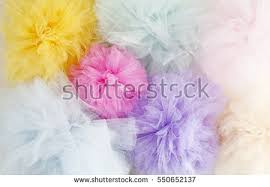 tulle pom poms colorful tulle pom poms stock photo 550652125