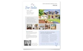 free home for sale flyer template real estate listing flyer