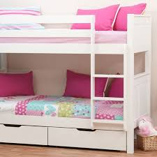 Stompa Classic Kids White Bunk Bed - Jay be bunk bed