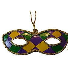 mardi gras items king cake mardi gras ornament with free gold