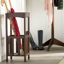 umbrella stand cane rack wood bucket mission style foyer mudroom