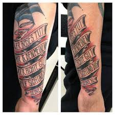 60 banner tattoos for men waving word ink design ideas