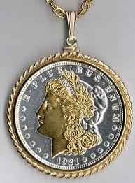silver coin jewelry necklace images Gold and silver on silver morgan dollar obv necklace jpg