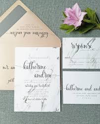 new katherine marble wedding invitation sample modern
