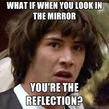 Mirror Meme - what if when you look in the mirror you re the reflection create