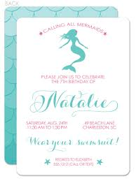 free printable mermaid birthday party invitations images