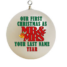 our first christmas mr and mrs christmas ornament custom gift 1