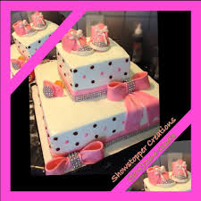 princess bling babyshower cake from nola cake diva show stopper