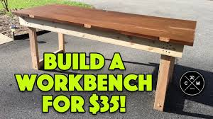 Plans For Making A Wooden Workbench by How To Build A Workbench With A Solid Core Door For 35 Crafted