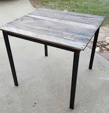 metal frame for table top other see description rustic pallet wood table top on a black