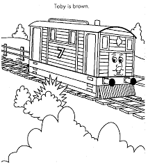 thomas tank engine coloring pages toby printable pages