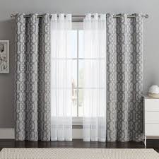 Shower Curtain To Window Curtain Vcny 4 Pack Barcelona Double Layer Curtain Set Gray 32