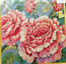 bucilla needlepoint roses flowers floral tapestry picture