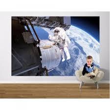 moon landing space sticker space walk wall mural