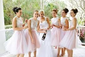 tulle skirt bridesmaid light pink tulle skirt bridesmaid dresses knee length