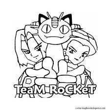 team rocket coloring pages rocket blast coloring free
