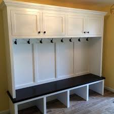Entryway Bench With Coat Rack And Storage Handmade Mudroom Entryway Bench And Storage By Boltonwoodworking