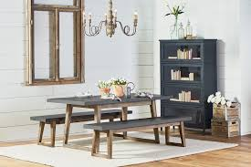 dining room tables with bench dining kitchen magnolia home